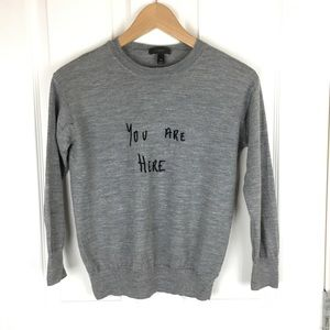 3/4 sleeve J Crew crew neck sweater